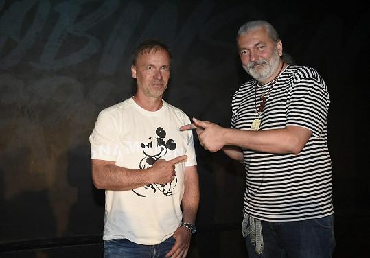 Zdeněk s Danielem Hůlkou na konkurzech na Robinsona