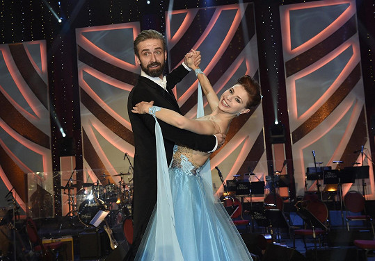 Roman Zach tančil s Andreou Třeštikovou.