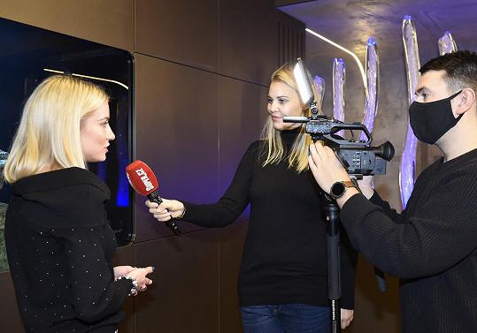 Natálka během rozhovoru pro Super.cz