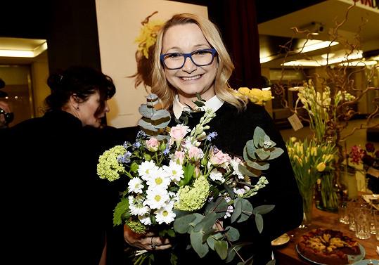 Anna Šišková na otevření květinářství