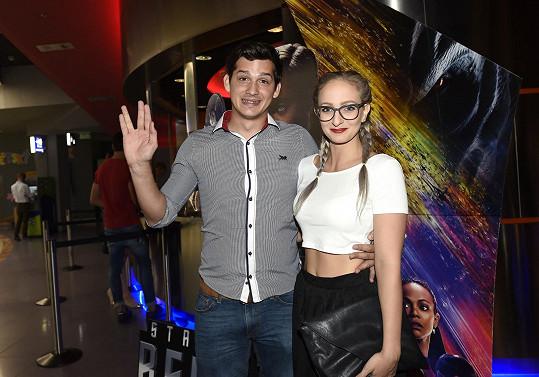 Martin Čermák s přítelkyní Karolínou na premiéře Star Treku