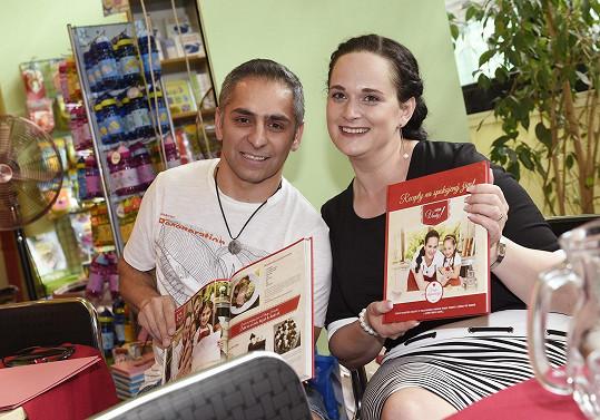 S kuchařkou Vendy na křtu její knihy