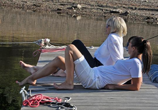 Lenka Vlasáková se svojí filmovou maminkou Janou Švandovou