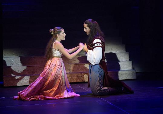 Andrea při zkoušce muzikálu Romeo a Julie