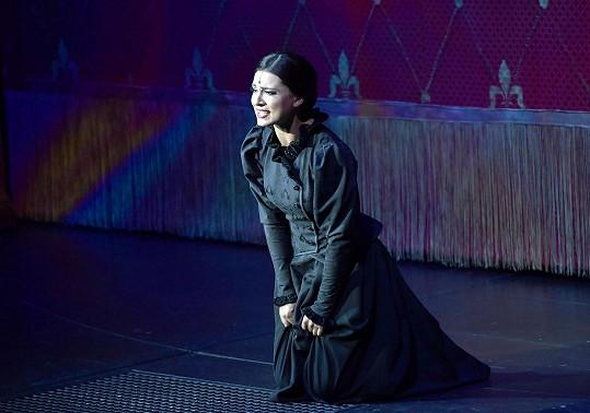 Felicita Prokešová jako Nessarose v muzikálu Čarodějka