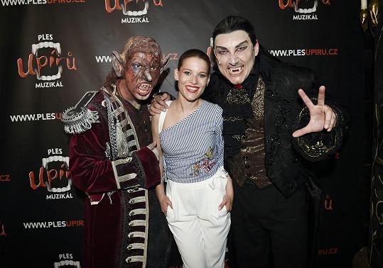 S kolegy z muzikálu Ples upírů na zakončení divadelní sezóny