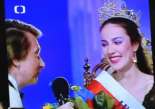 Promítal se i finálový večer Miss Československo.