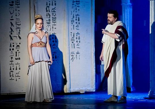 Lucia Molnárová hraje v Kleopatře Octavii.
