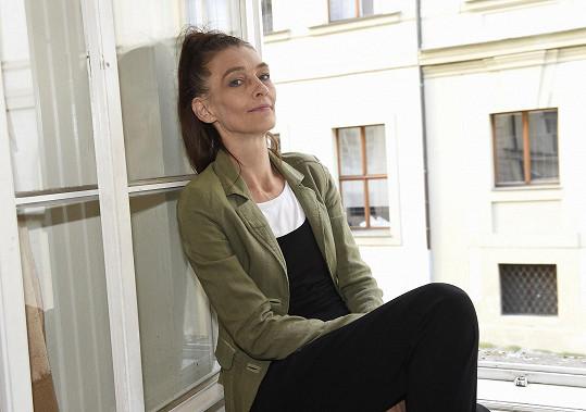 Monika Kvasničková dorazila na křest audioknihy.