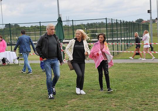 Šárka Grossová s partnerem Jiřím a dcerou Natálkou