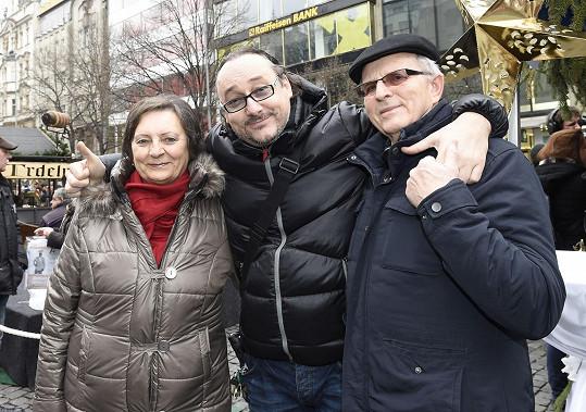 Marian sebou vzal i rodiče, kteří za ním přijeli ze Slovenska.