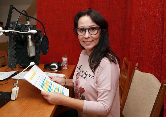 Heidi v nové roli. Nedávno poprvé namluvila audioknihu Nové příběhy pejska a kočičky.