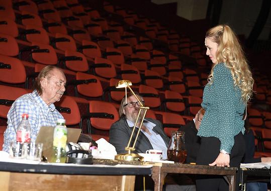 Při pohovoru s producentem Františkem Janečkem