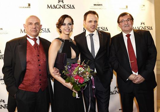 S šéfem plzeňského muzikálu a operety, režisérem inscenace Probuzení Jara Romanem Meluzínem a dalším držitelem Thálie Janem Křížem a Sagvanem Tofim.