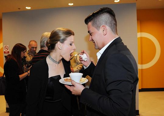 Hvězda Fantoma opery Michaela Gemrotová dorazila na udílení cen s partnerem Alexandrem Koptou.