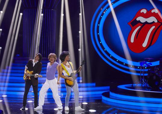 Předvedl vystoupení k písni Start Me Up od Rolling Stones.