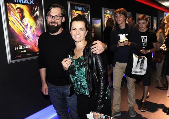Marta s manželem Mirkem na premiéře Star Treku.