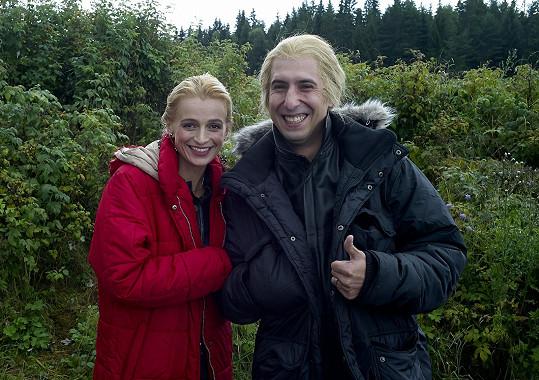 Ivana Jirešová se svým dublérem Luďkem Jelenem