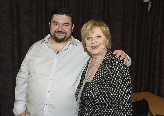 Režisér na starším snímku s herekčou Libuší Švormovou
