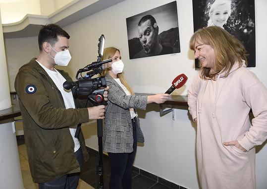 Sandra Pogodová při rozhovoru pro Super.cz