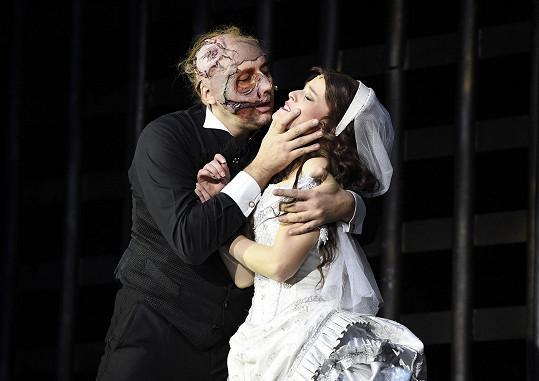 Marian Vojtko s Míšou Gemrotovou na nějaký čas naposledy jako Fantom opery a Christine