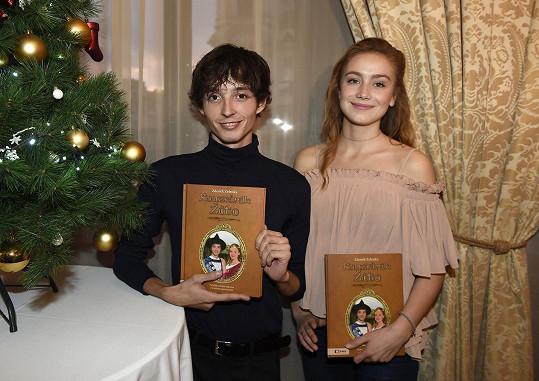 S kolegou Denisem Šafaříkem, který si v pohádce zahrál prince.