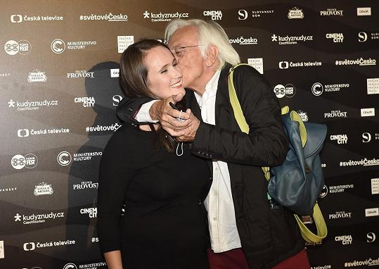 Olga Malířová Špátová s manželem Janem Malířem, jenž neskrýval hrdost.