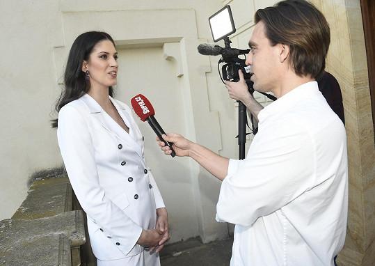 Aneta během rozhovoru pro Super.cz
