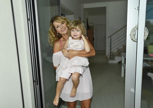 Markéta s dcerou Viktorií