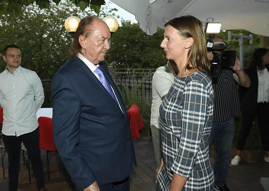 František Janeček s muzikálovou zpěvačkou Monikou Sommerovou