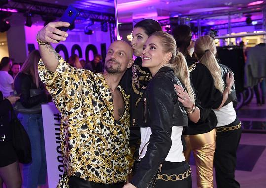 Společná selfie s Filipem Vaňkem a Darou Rolins