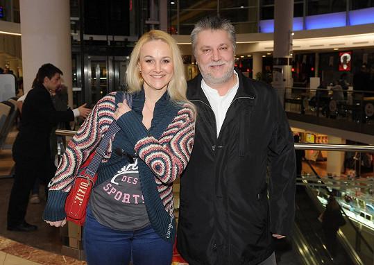 Finková s partnerem