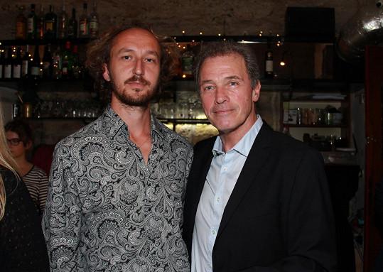 Milan Hein se svým partnerem Martinem Šimkem