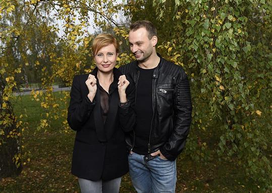 Jitka se svým tanečníkem Markem Dědíkem