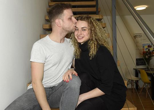 Jan Onder s přítelkyní Natálií Otáhalovou
