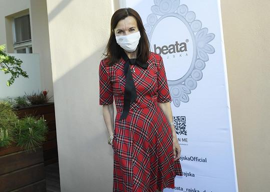 Beata Rajská bez práce nevydrží.