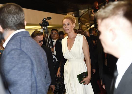 Uma Thurman byla hvězdou zahájení filmového festivalu v Karlových Varech.