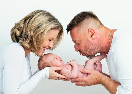 Michaela Gemrotová Štiková se svou rodinou