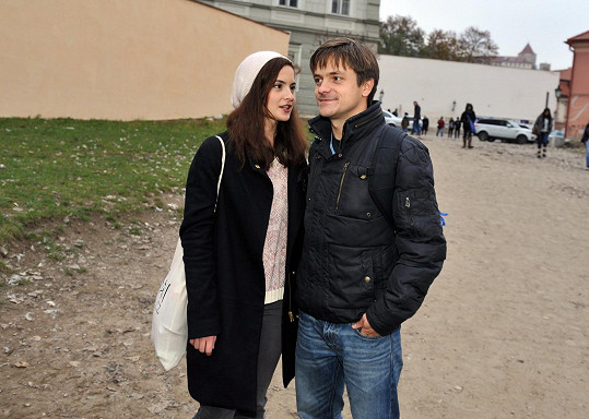 Eva Josefíková na archivní fotce s Jiřím Mádlem