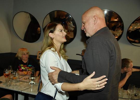 Šárka s porotcem Ondřejem Soukupem, jehož favoritkou před lety byla.
