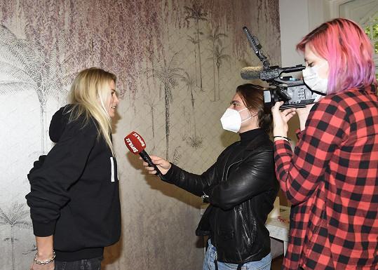 Klára během rozhovoru pro Super.cz