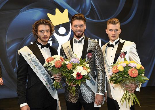 Trojice úspěšných: Roman Hein, Matyáš Hložek a Mikuláš Focko