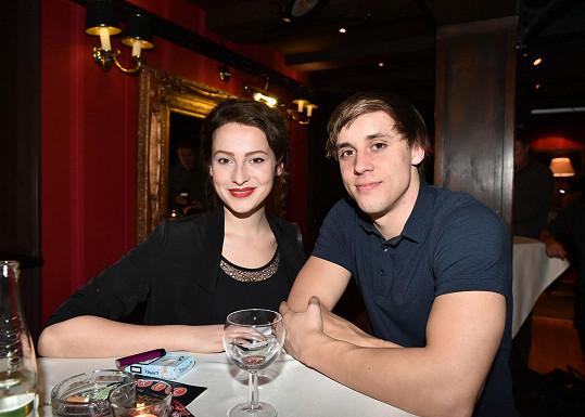Anna Fialová a Tomáš Materna na večírku