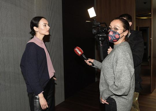 Lucie při rozhovoru se Super.cz