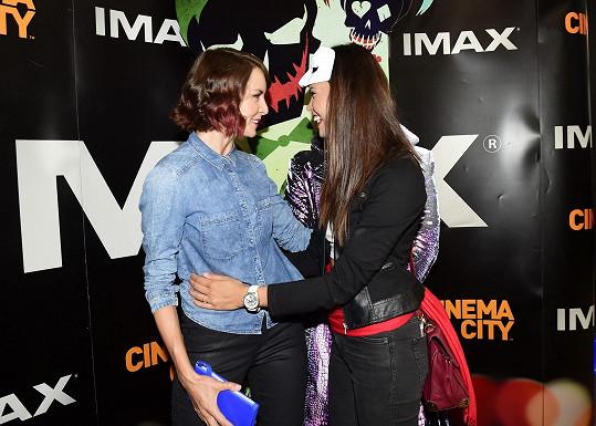 Gábina se na premiéře potkala s kolegyní z České Miss i televize Monikou Leovou.