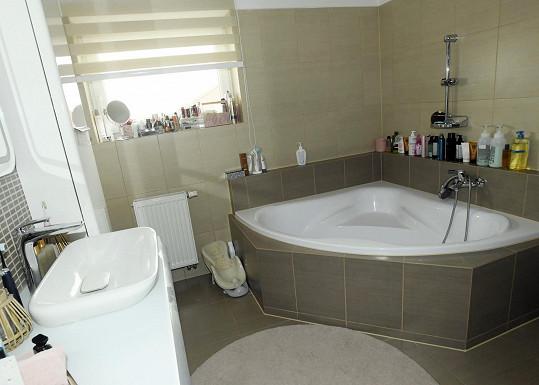 Koupelnu se chystá Lenka ještě rekonstruovat.