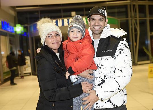 S přítelkyní Lenkou a synem Sebastianem
