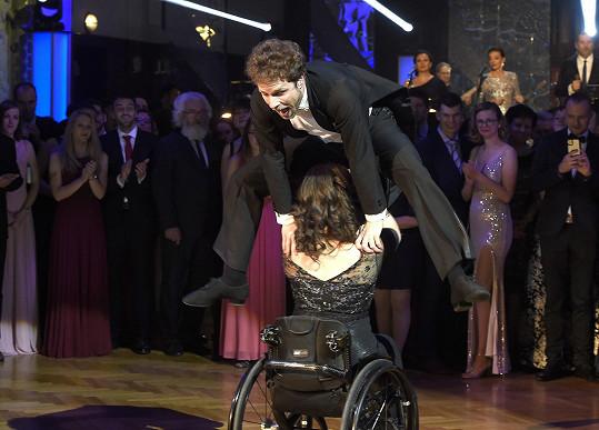 Jan Onder předvedl krásné vystoupení s vozíčkářkou a nechyběly ani akrobatické prvky.