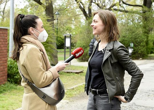 Herečka během rozhovoru pro Super.cz