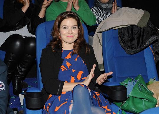 Zuzana v kině na premiéře filmu Hodinový manžel